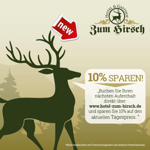Printmedien für das Hotel Zum Hirsch