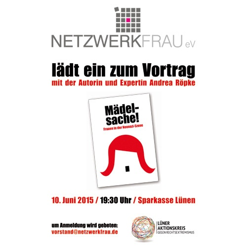 Vortrag – Frauen in der Neonazi-Szene!