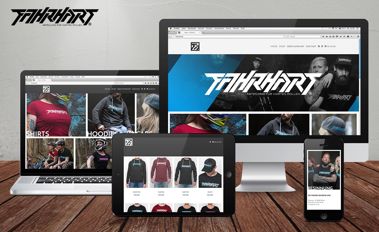 Webshop für Lifestyle-Label FAHRHART