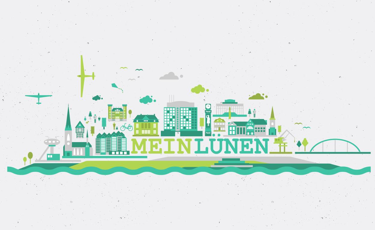 Stadt Lünen - Skyline Stadt Lünen