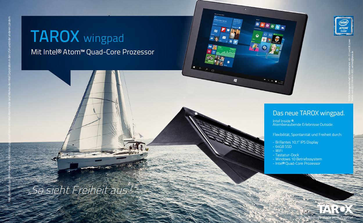 Produktkampagne TAROX wingpad