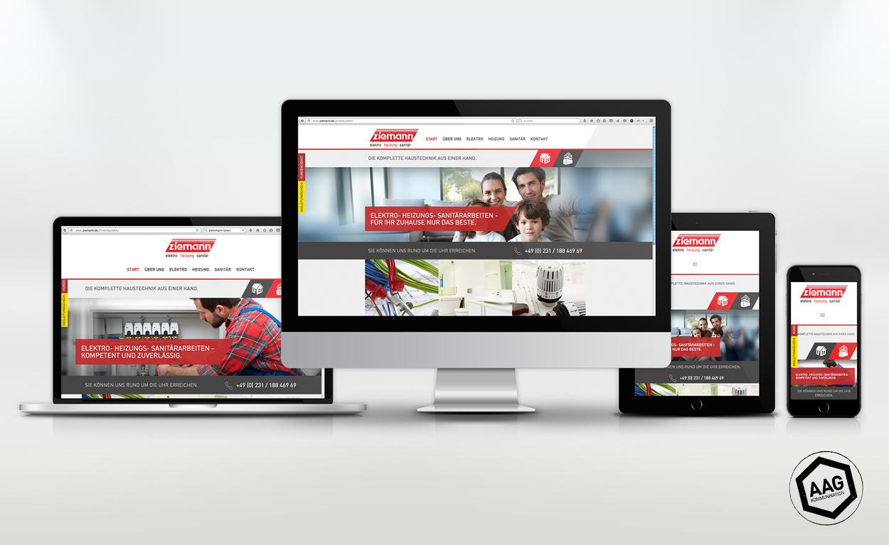 Programmierung Website -  Ziemann Sanitär