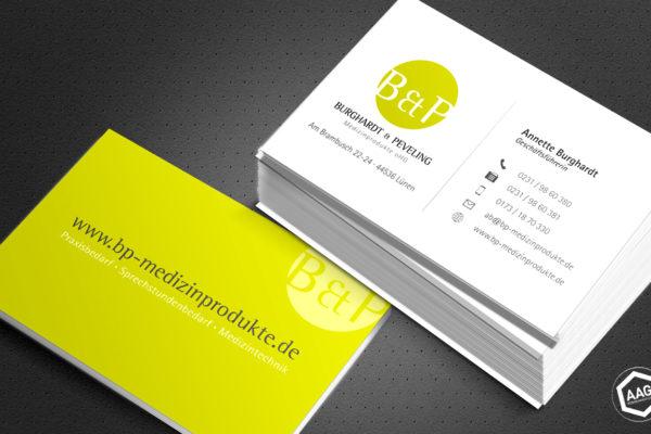 <strong>Visitenkarten Gestaltung -  Burghardt & Peveling<span>Burghardt & Peveling Medizinprodukte oHG</span></strong><i>→</i>
