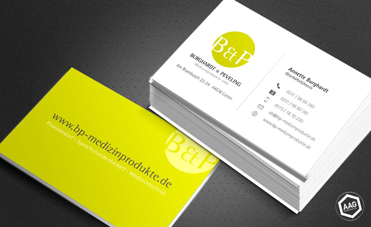 Visitenkarten Gestaltung -  Burghardt & Peveling