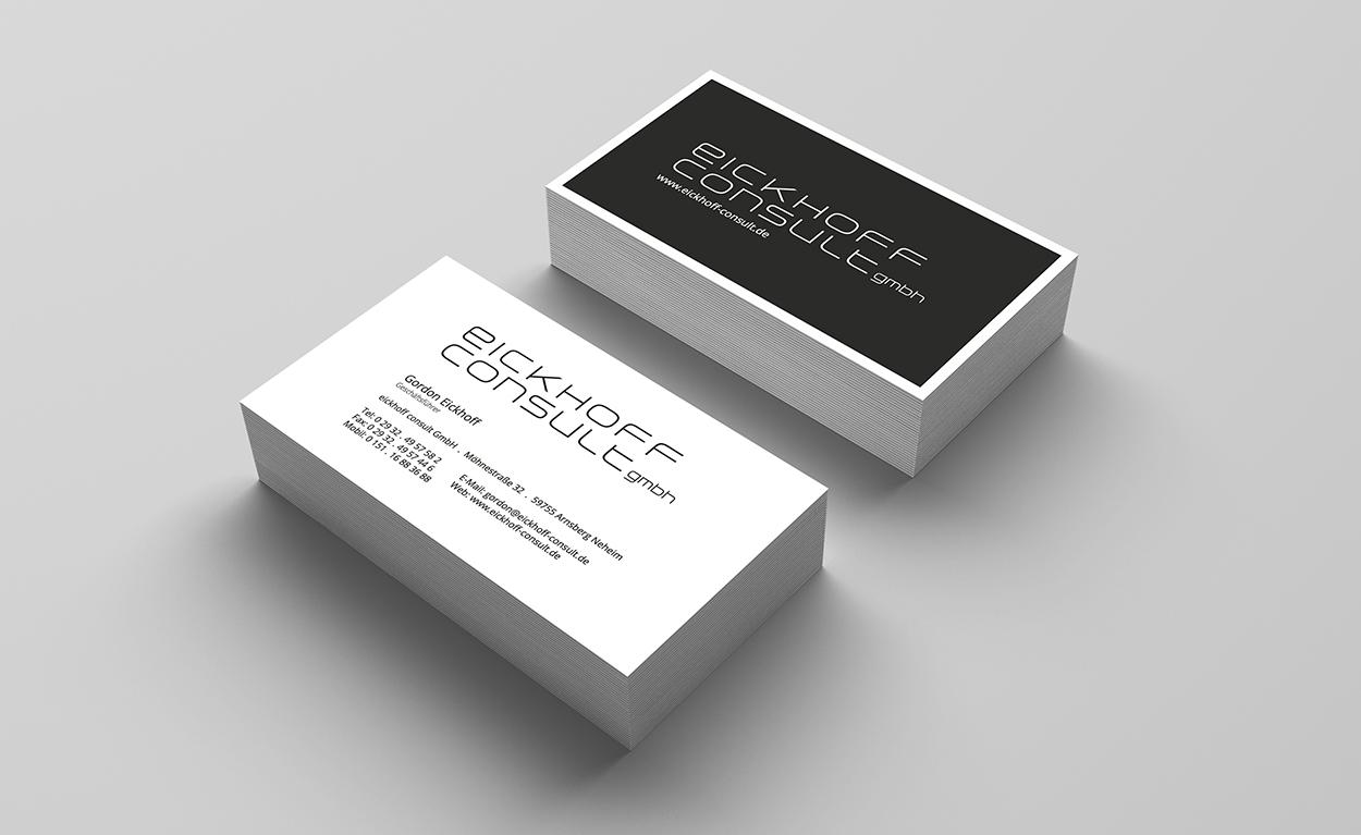 Logo und Visitenkarte der eickhoff-consult GmbH