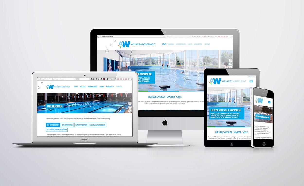 """Website Familienbad """"Wiehler Wasser Welt"""""""
