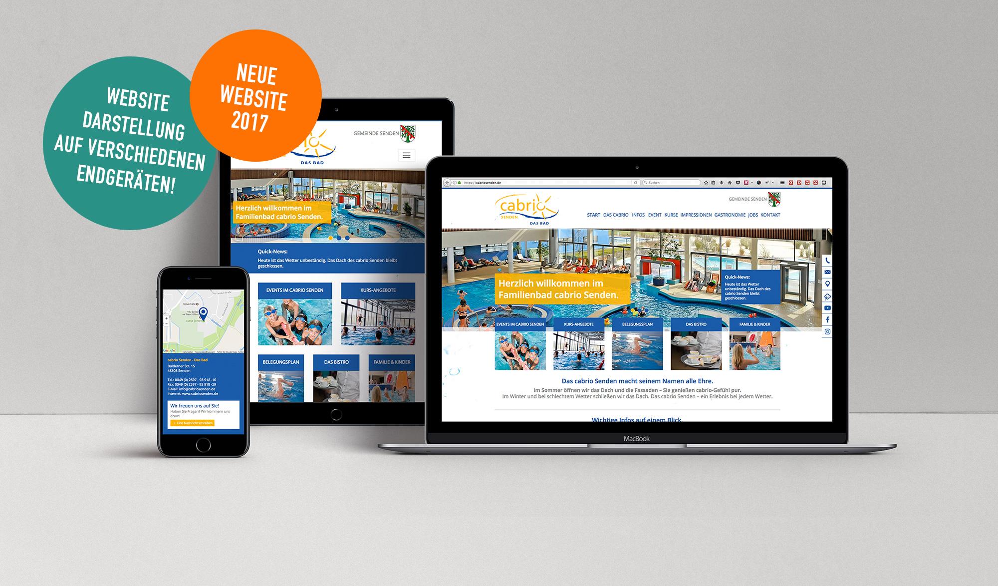 Neue Website für cabrio Senden - Das Bad!