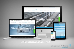 <strong>Relaunch Unternehmens-Website Glaszentrum Dortmund GmbH<span>Glaszentrum Dortmund GmbH</span></strong><i>→</i>