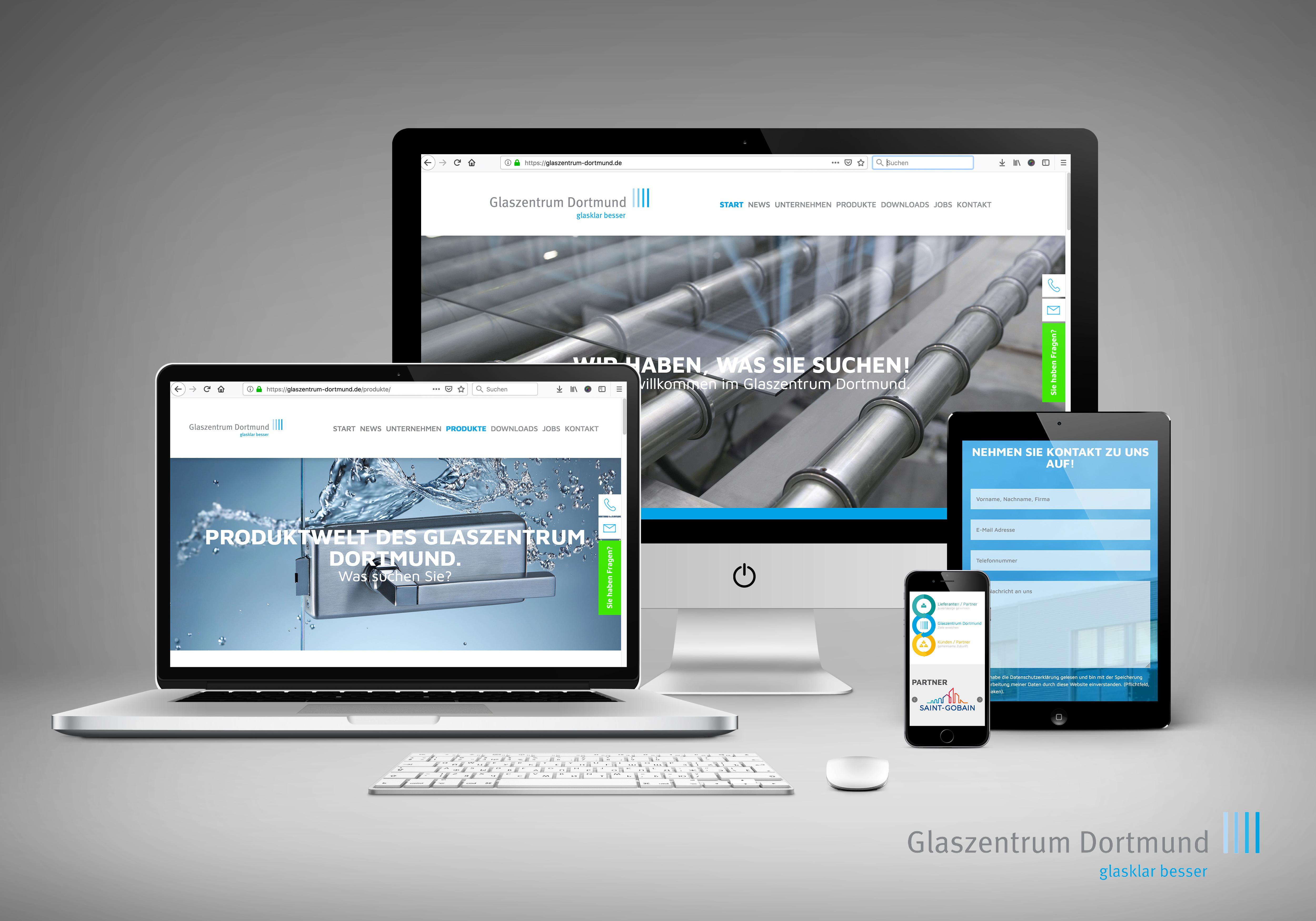 Relaunch Unternehmens-Website Glaszentrum Dortmund GmbH