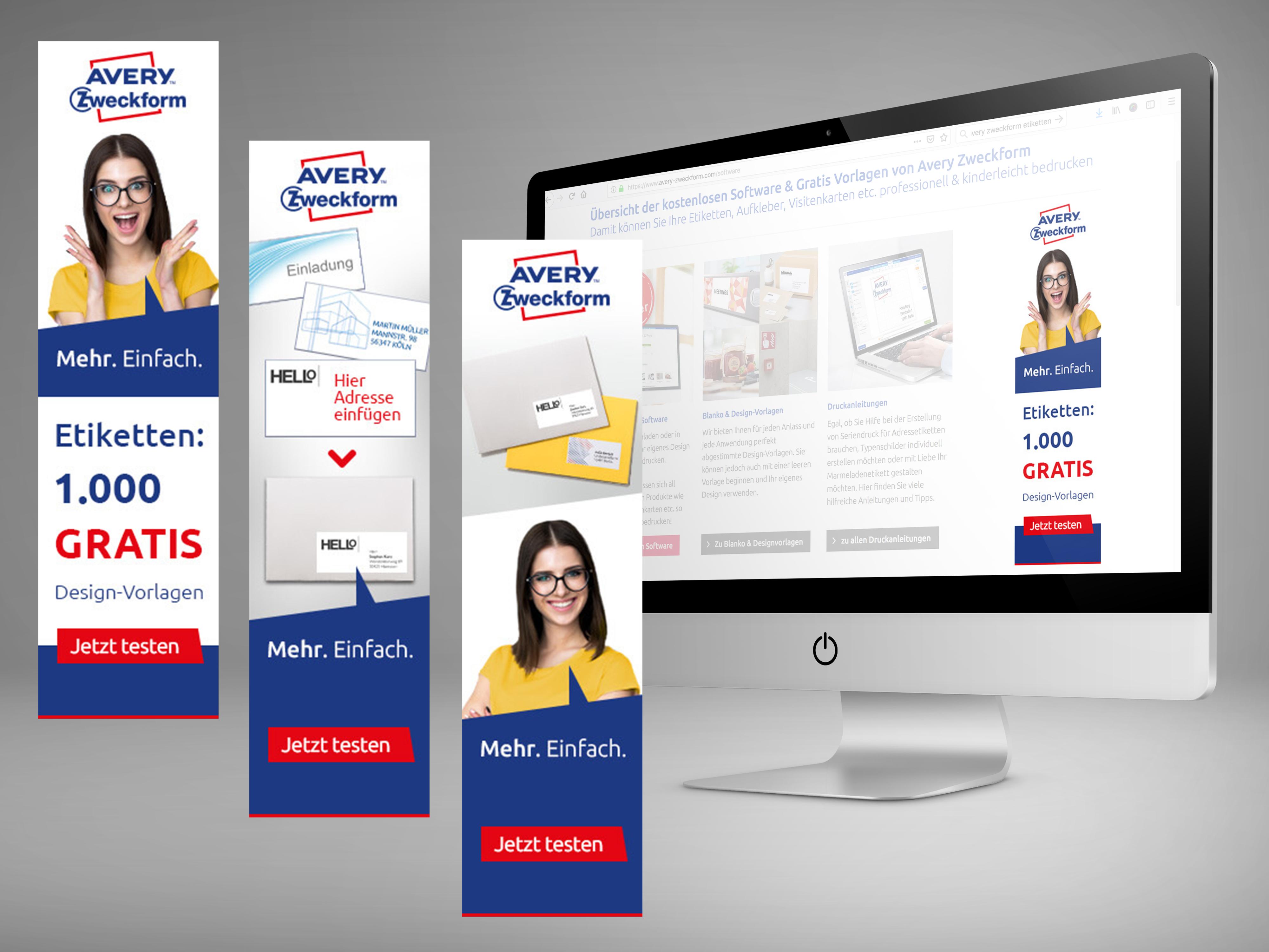 Online-Banner für Avery Zweckform