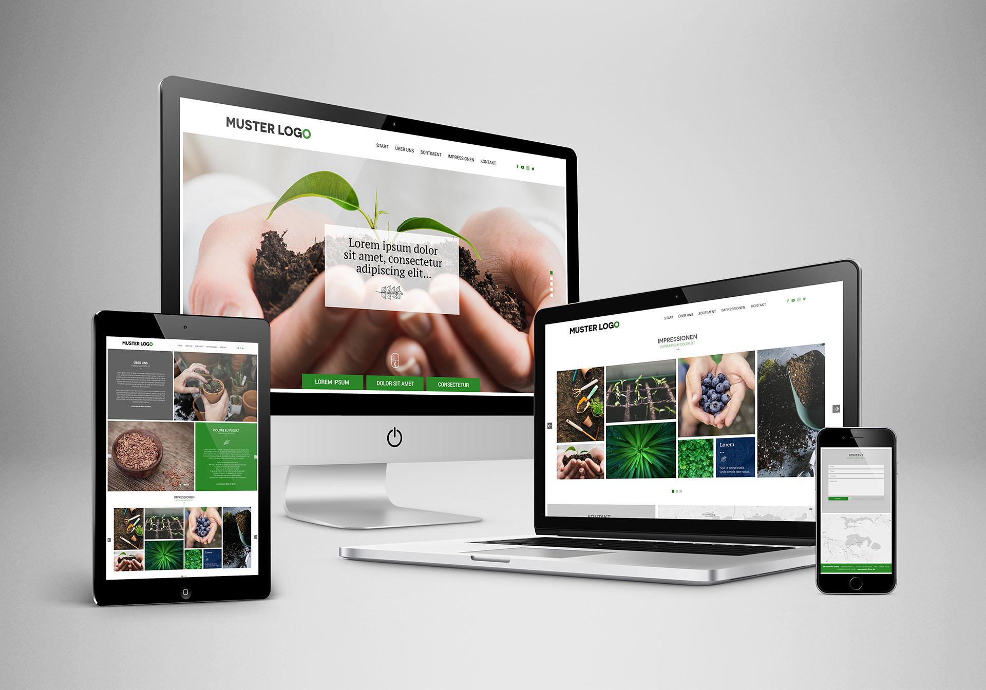 """<strong>Web Paket """"Nature""""<span>Übersichtliche, funtionstüchtige, modenre Website für handwerklich Tätige.</span></strong><i>→</i>"""