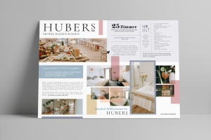 <strong>Hotel Deutscher Kaiser wird das HUBERs.<span>Hotel HUBERs</span></strong><i>→</i>
